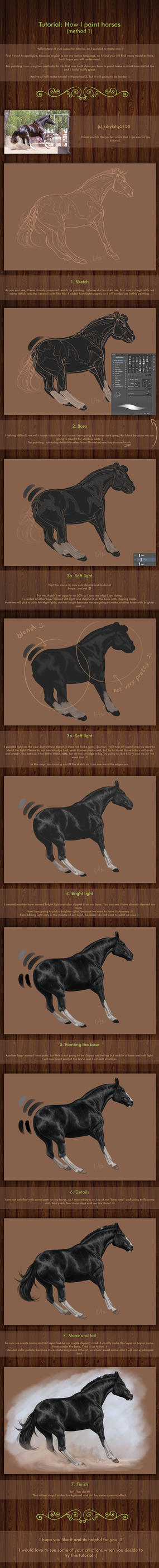 Tutorial: How I paint horses - method 1 by Naia-Art