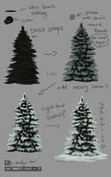 -= Tutorial: Evergreen tree =- by Naia-Art