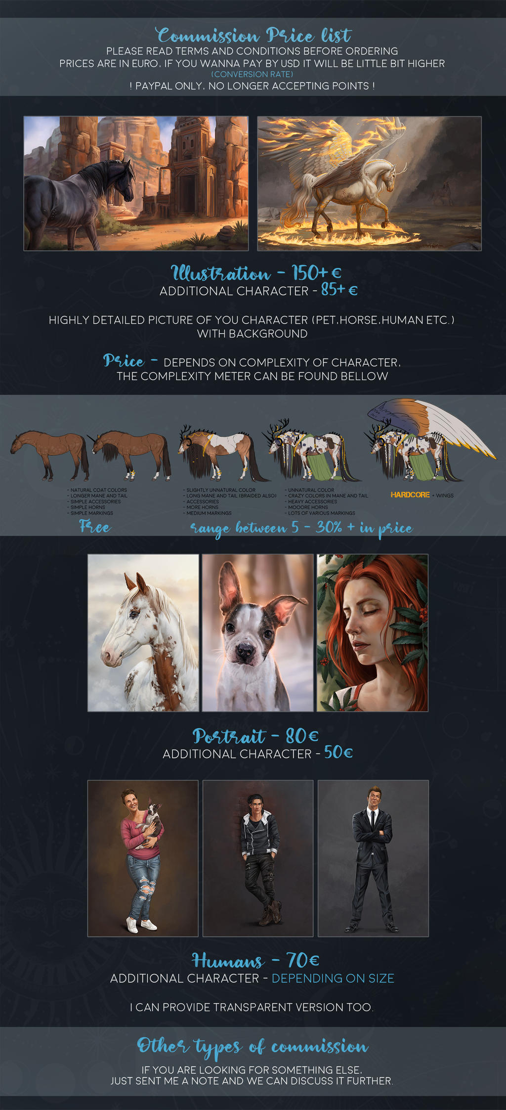 -= Commission price list - OPEN =-