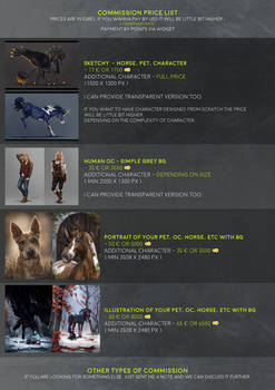 -= Commission price list - ON HOLD =-