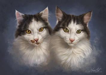 -= Com: Juno and Iki =- by Naia-Art