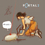 chell and turret