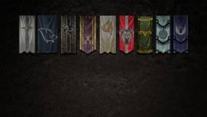 Skyrim Banners Wallpaper