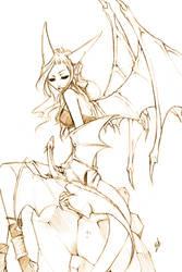 two of dragons by pandabaka