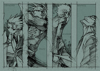 bleach - sketch bookmark for U by pandabaka