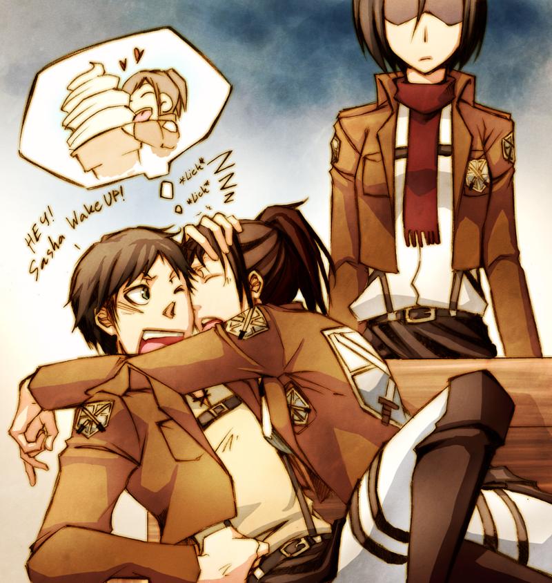 Shingeki no Kyojin(Attack on Titan) - Page 6 Atashingeki_no_kyojin__wake_up_sasha_by_pandabaka-d67s6la