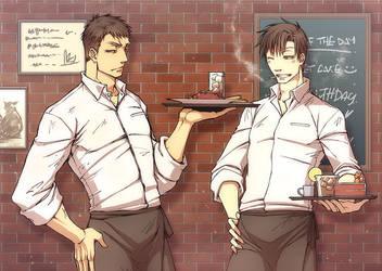 TKA - AU - waiters by pandabaka