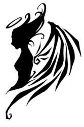 gaia - angel tattoo by pandabaka