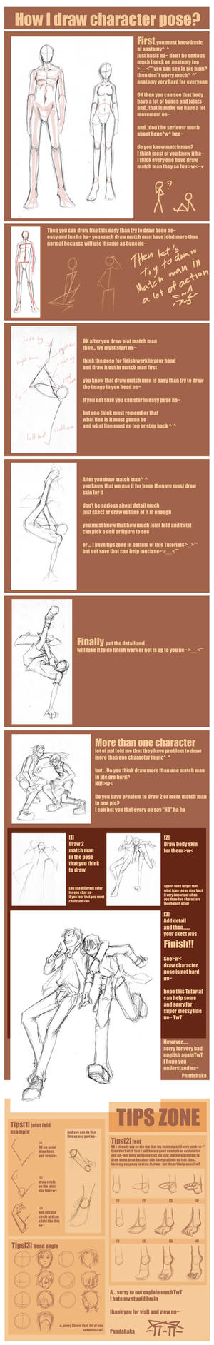 How I draw char. pose