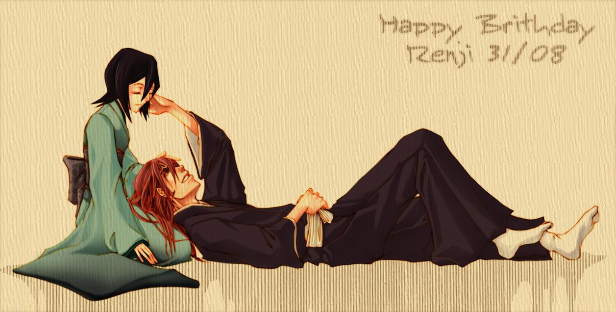 bleach - happy Bday renji by pandabaka