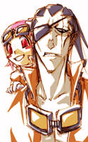 bleach - division11 doodle by pandabaka
