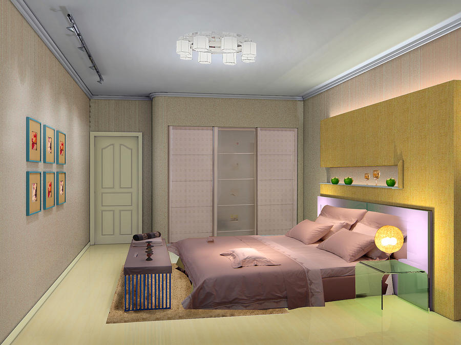 Bedroom 3D Design 3d interior design - bedroomyuanzhong on deviantart