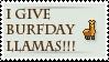 burfday llama stamp by sewer-pancake