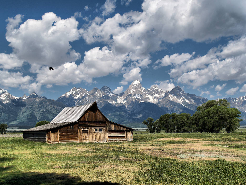 Wyoming Barn by MartinGollery