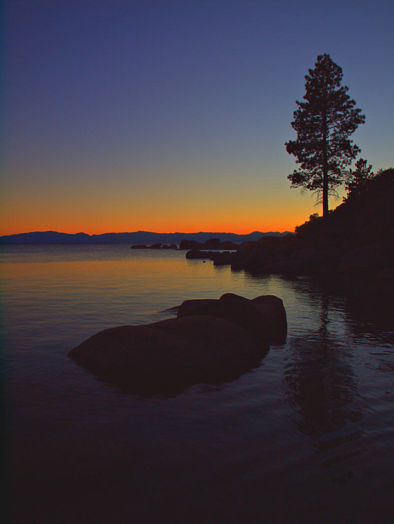 Sunset Lake Tahoe by MartinGollery