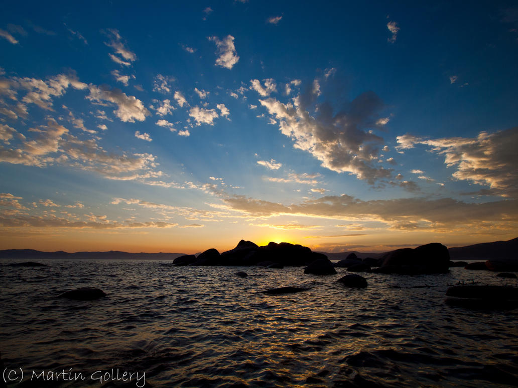 East shore sunset rocks by MartinGollery