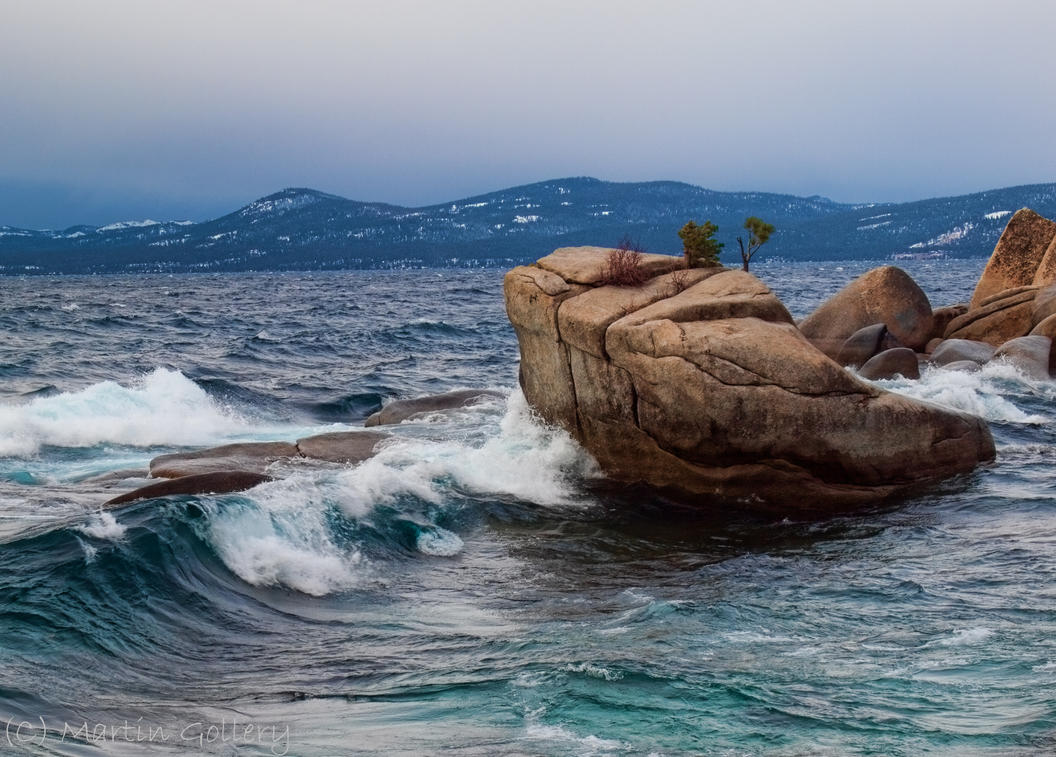 Lake Tahoe waves by MartinGollery