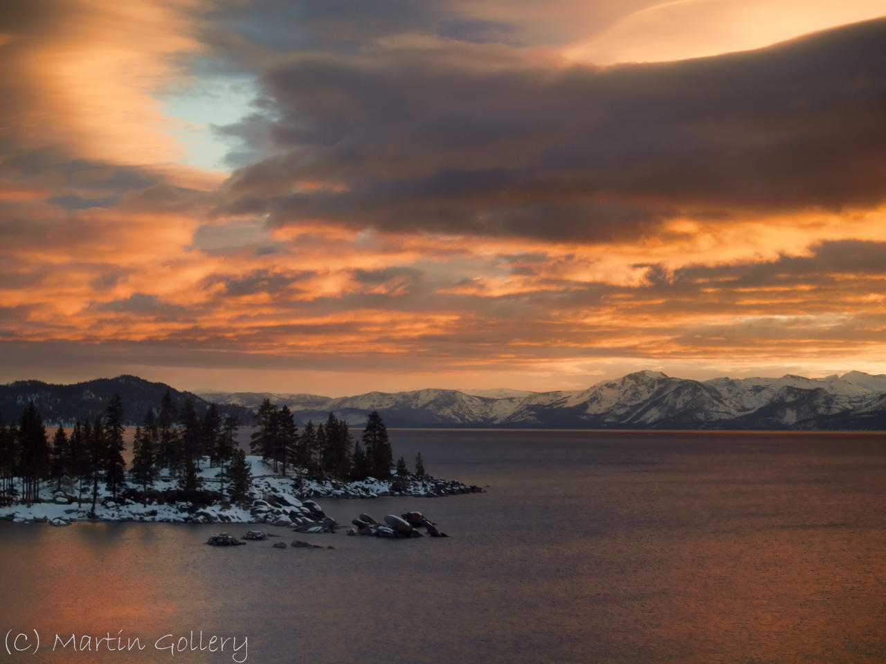Sand Harbor sunset 3 by MartinGollery