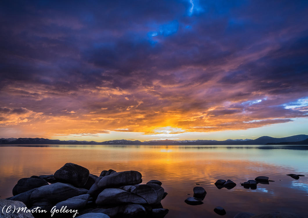 Lake Tahoe sunset 150122-51 by MartinGollery