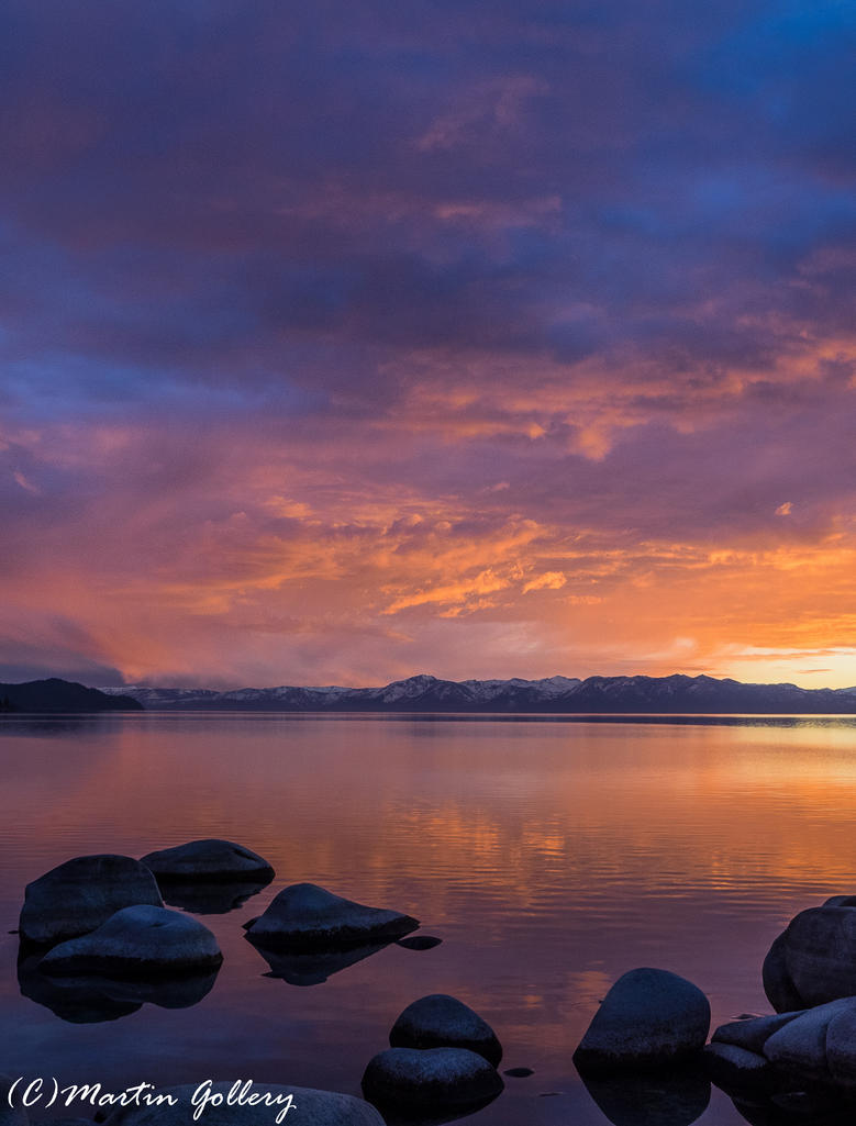 Lake Tahoe sunset 150122-68 by MartinGollery