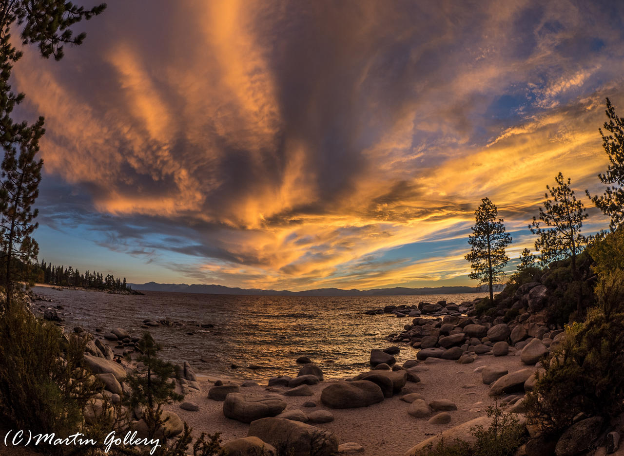 East Shore sunset150925-15 by MartinGollery