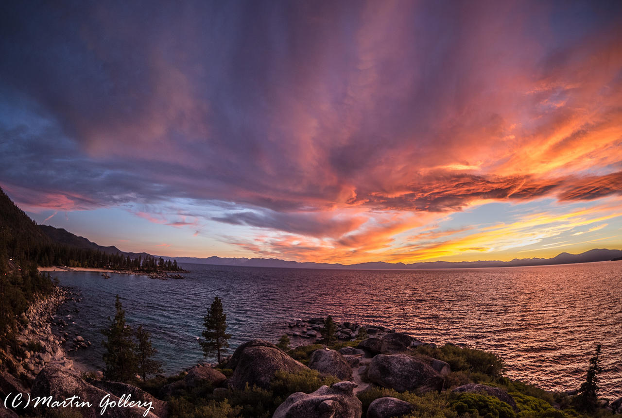 East Shore sunset150925-30 by MartinGollery