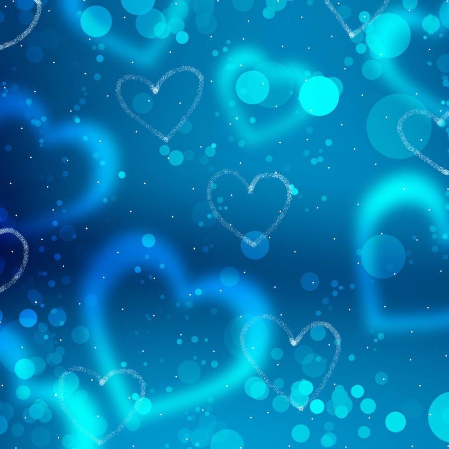 Blue Heart Wall... Blue Heart Background Wallpaper