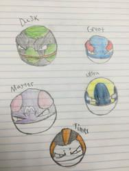 Voltorb (Different Poke Ball Patterns)