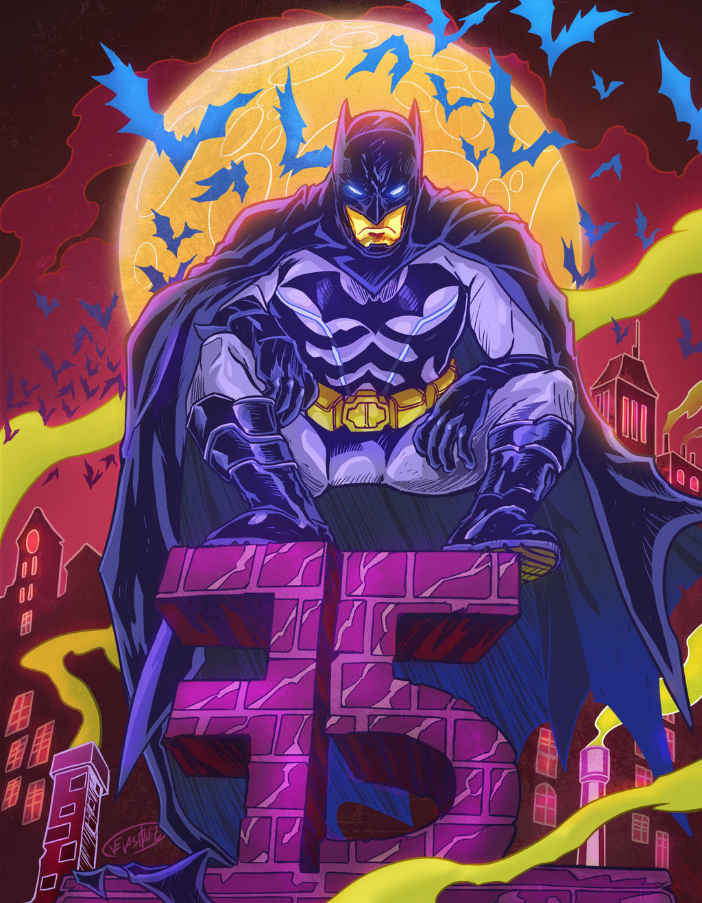 Batman 75th Anniversary by eldeivi