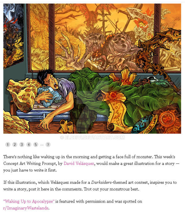 Concept Art Writing Prompt: Waking Up To The Apoca by eldeivi