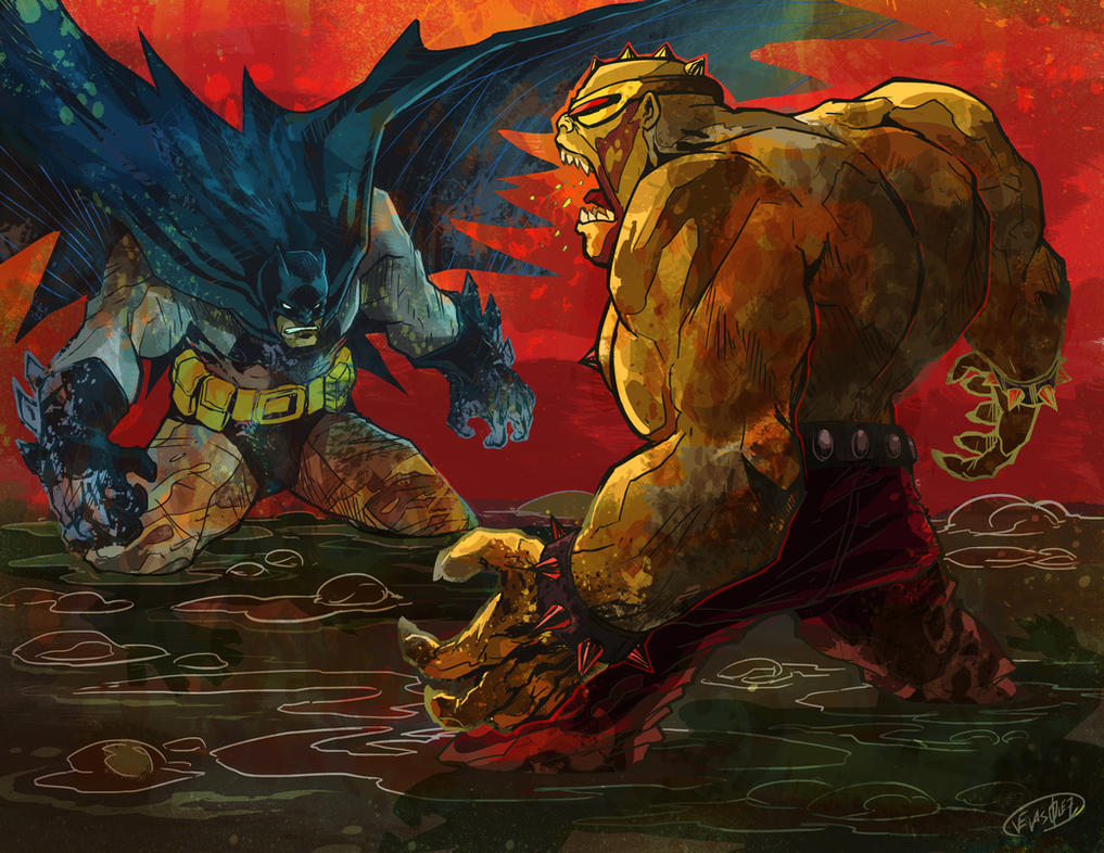 Batman vs The Mutant Leader by eldeivi