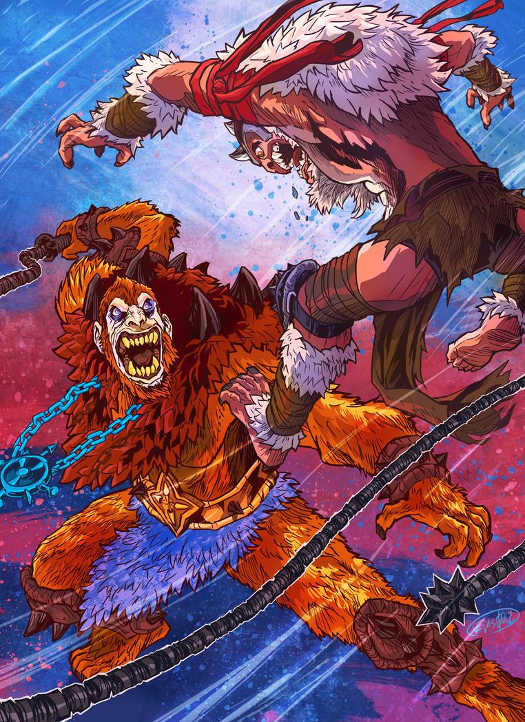 Beastman vs Monkian by eldeivi