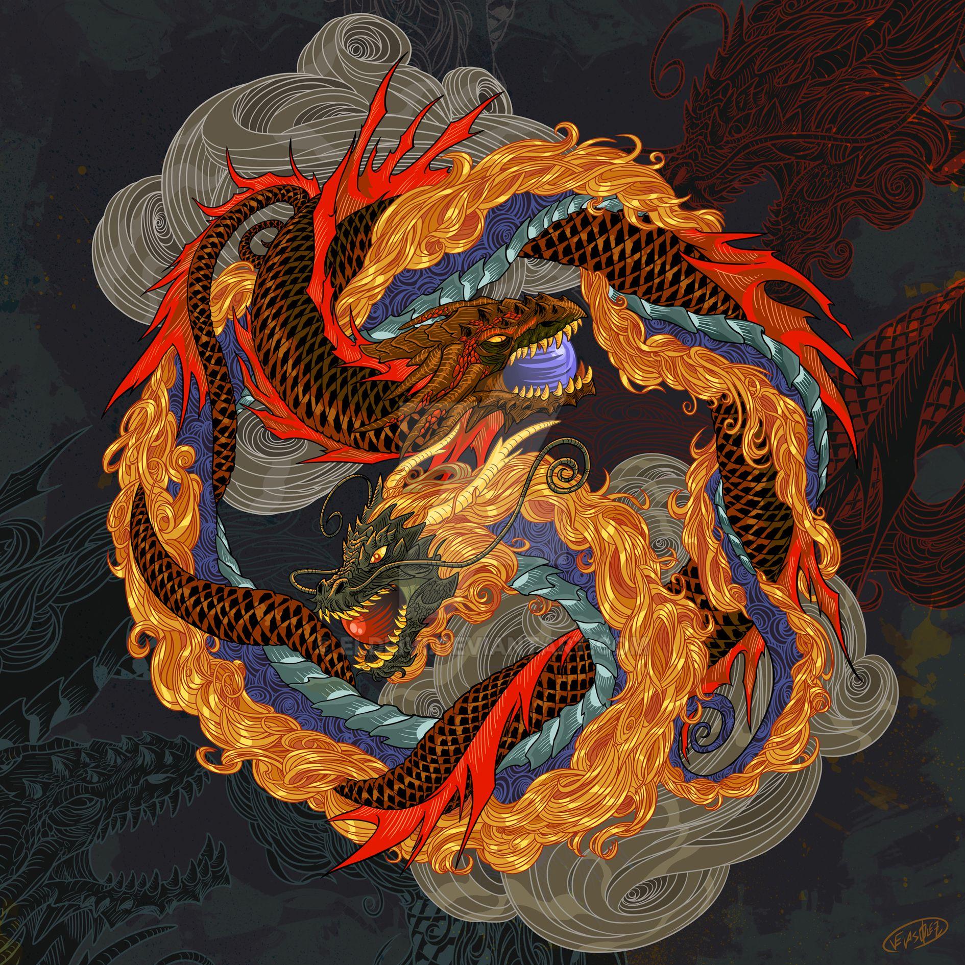 YingYang Dragons by eldeivi