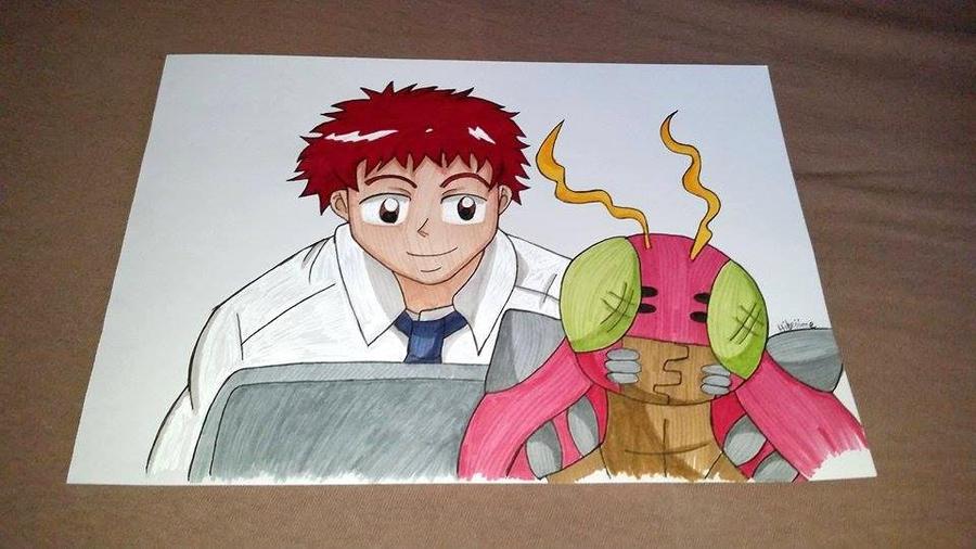 Brave Heart /  Koshiro and Tentomon by Hibejime