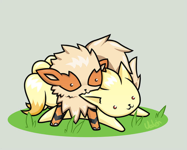 Arcanine And Ninetales By Valen Chan