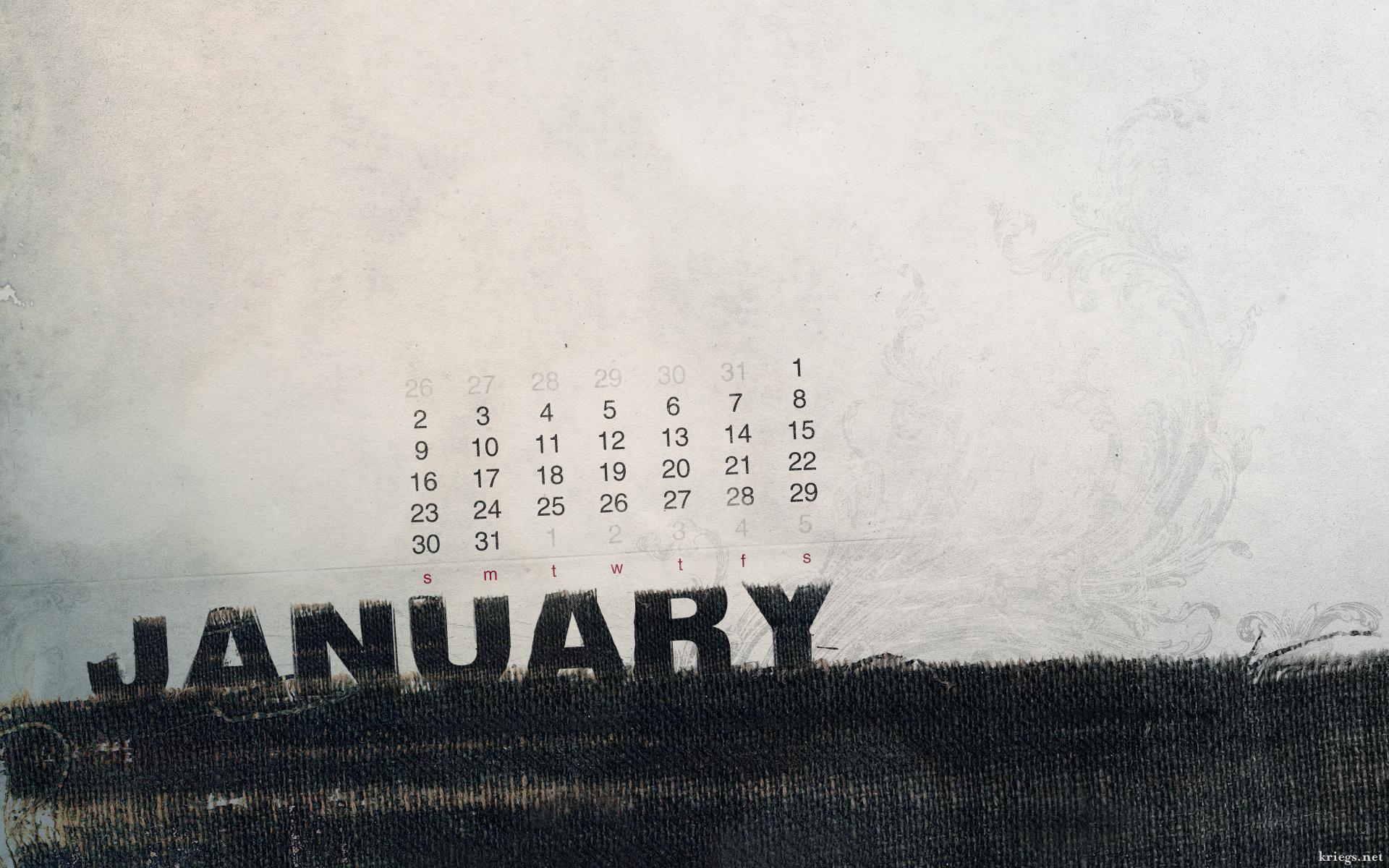 Calendar Wallpaper January : January calendar by kriegs on deviantart