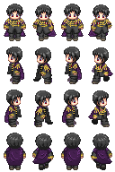 2p!Japan Sprites W/ Cape by PastaKitten