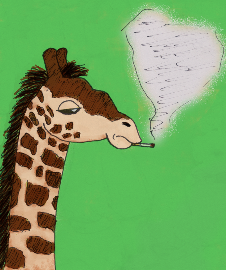 Cool Giraffe by saturn2169 on deviantART Cool Giraffe Drawing
