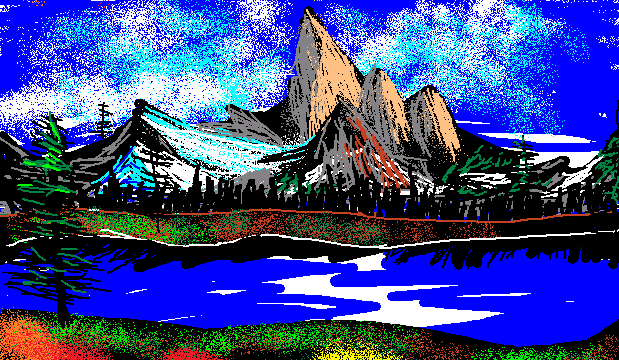 ms paint bob ross 2 by random artist 1 on deviantart