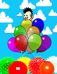 Boy in Balloon Land by maraiya-chan