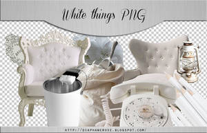 [ 3 ] White things png pack by Diaphanerose
