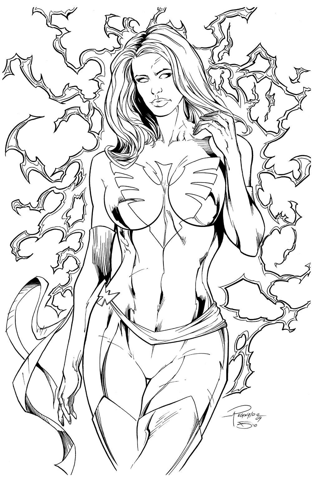 phoenix coloring pages - inks dark phoenix by fredmast on deviantart