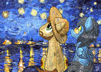 [Commission] Starry, Starry Night by dSana