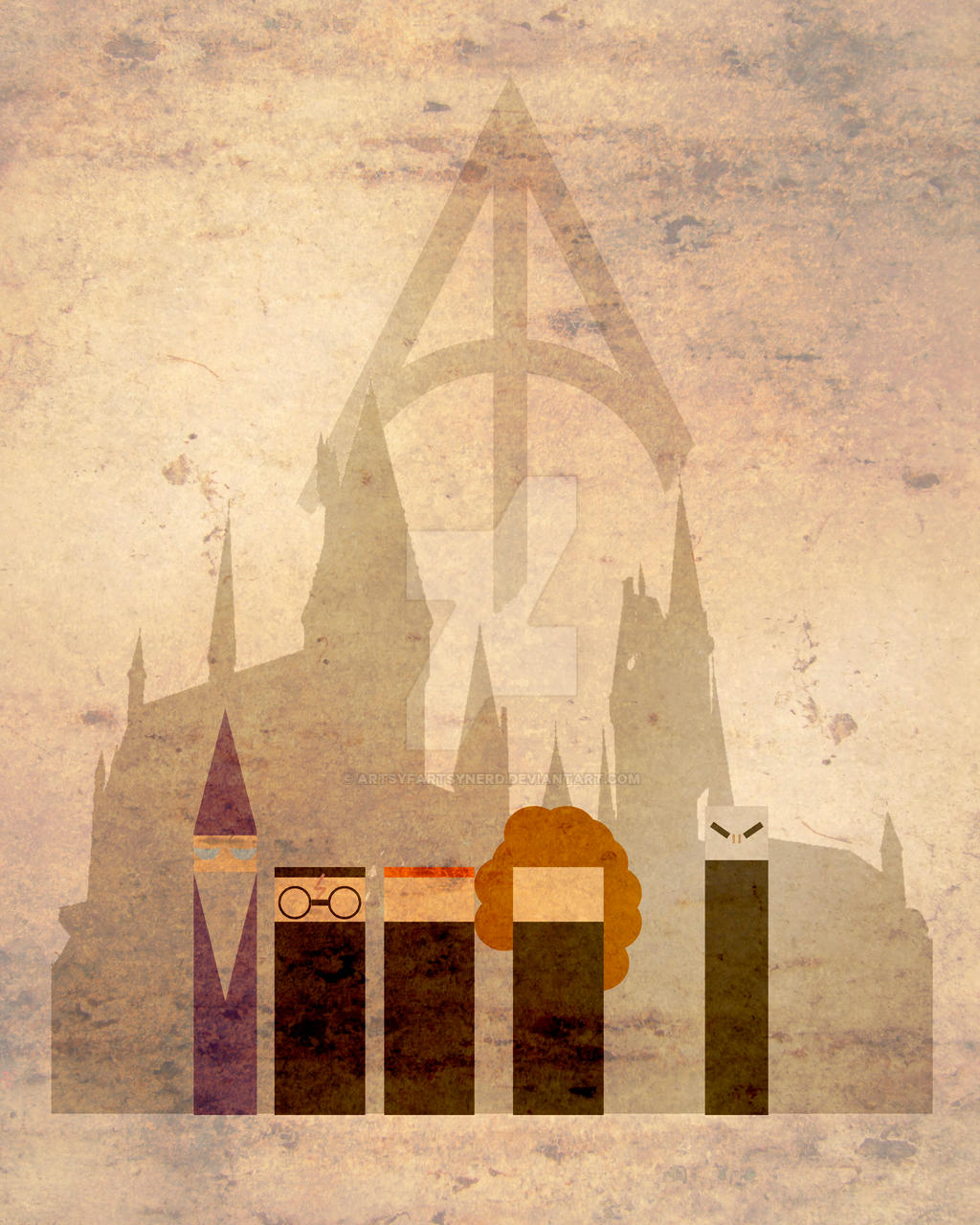 Harry Potter Minimalist Poster By ArtsyFartsyNerd On