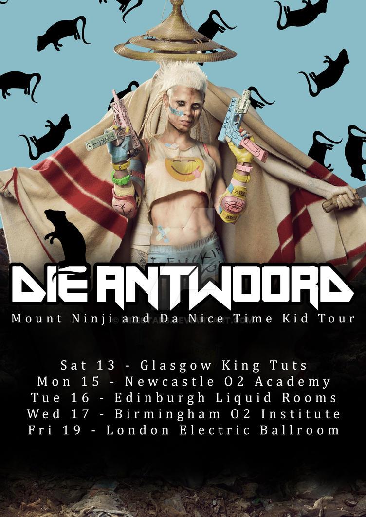 Die Antwoord Tour Poster by Firestar6