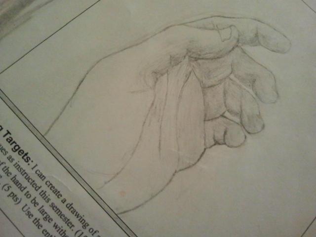 Intro to 2D Exam: Part I: Hand by IamKoji