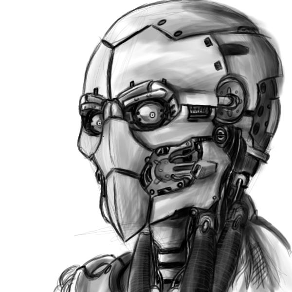 Oekaki robot head by Nabonidus