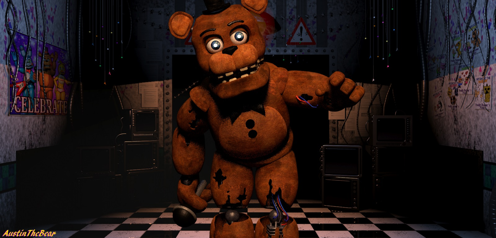 3d Character Creator Fnaf 2 Withered Freddy V3 By Austinthebear On Deviantart