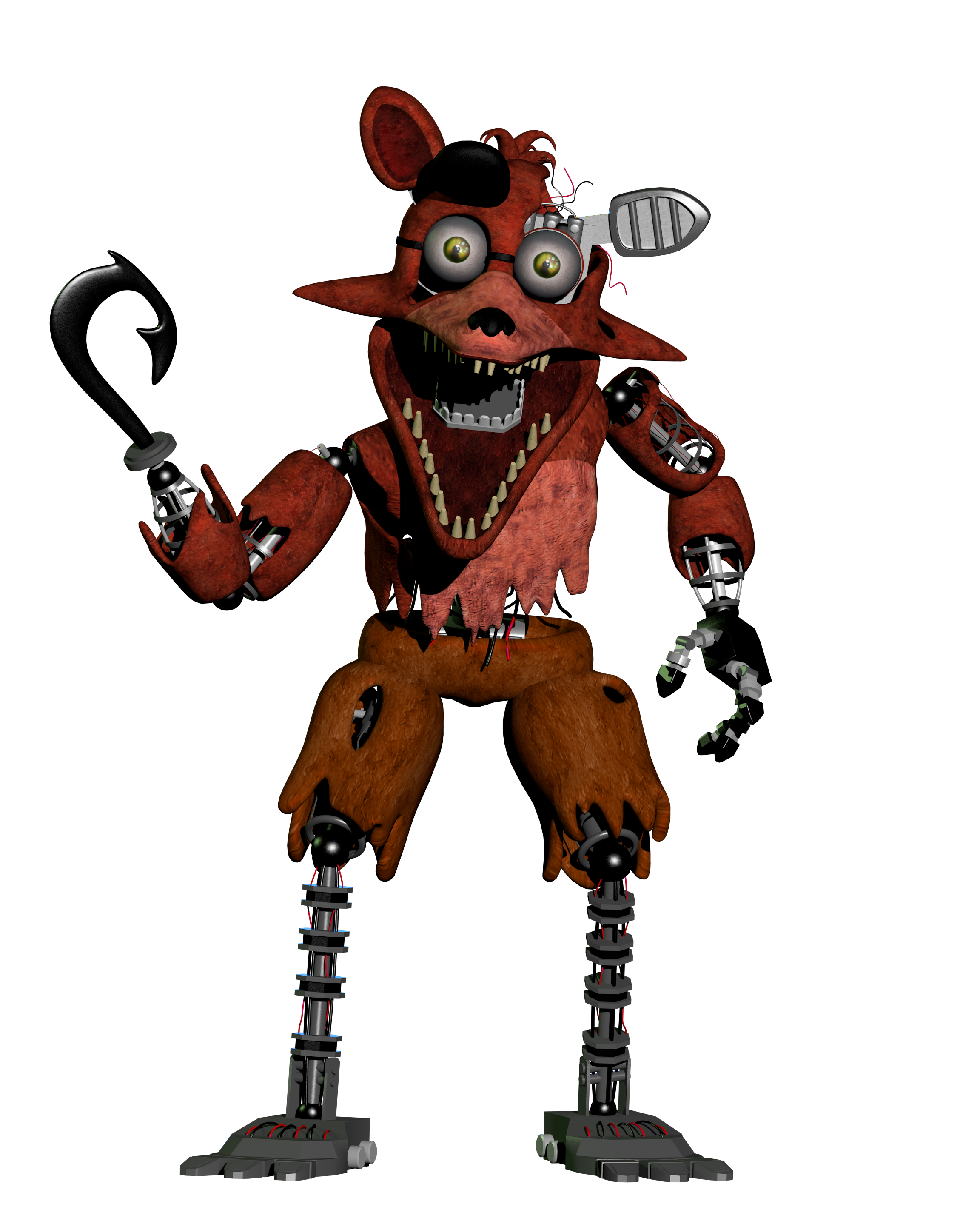 Stylized Withered Foxy By AustinTheBear On DeviantArt