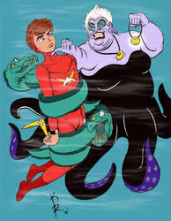 Marine Boy VS Ursula (resized) by Matropolis86